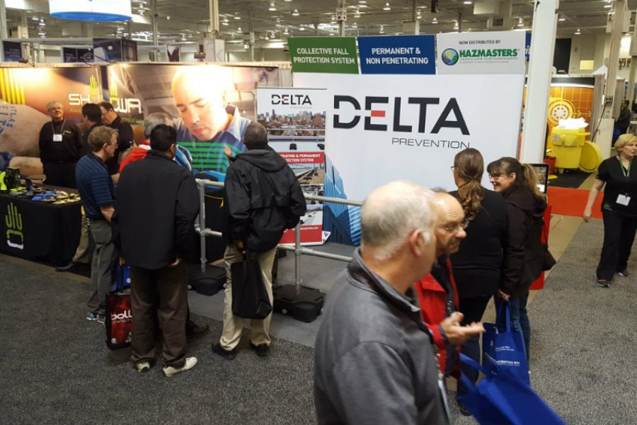 Trade show report: Delta Protection impress in Toronto with its roof safety railing.