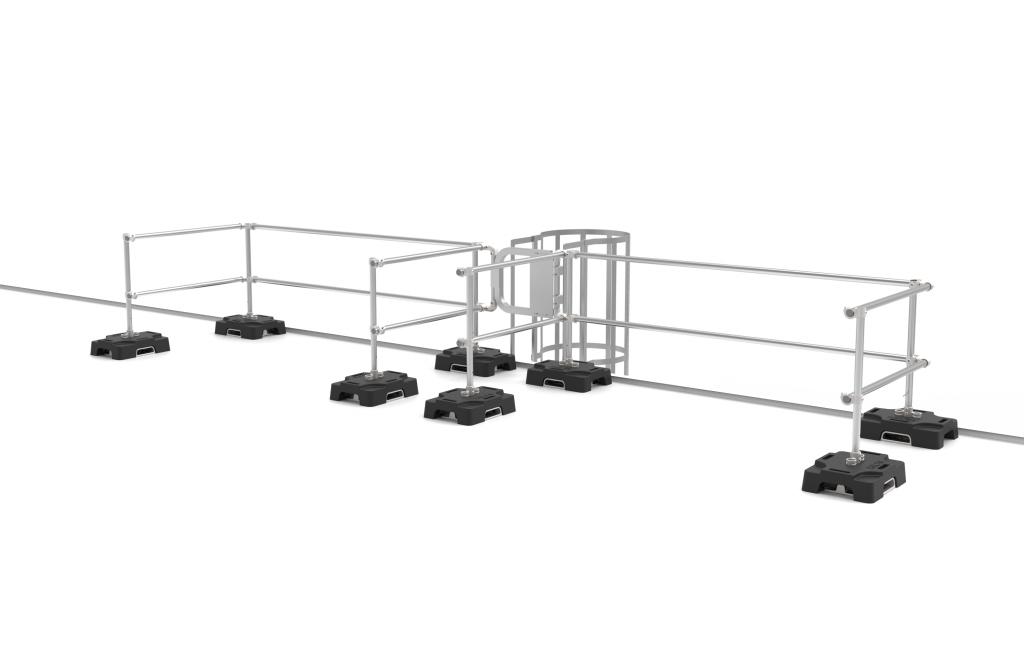 Garde-corps VSS Compact pour protection d'échelle vers la toiture