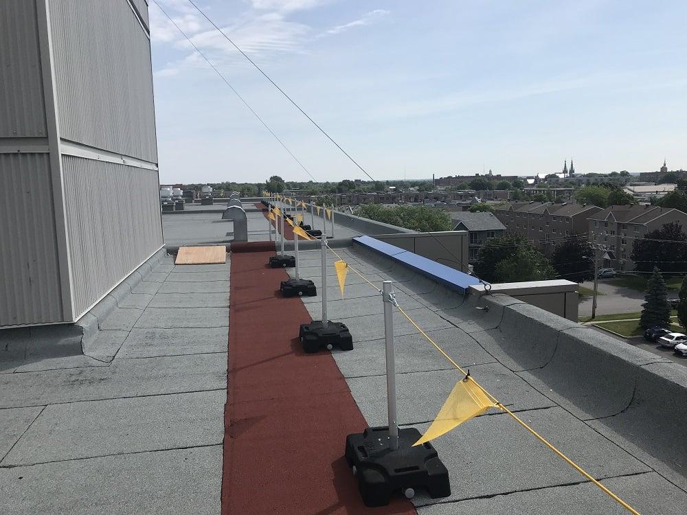 Freestanding roof warning line system, RSST compliant