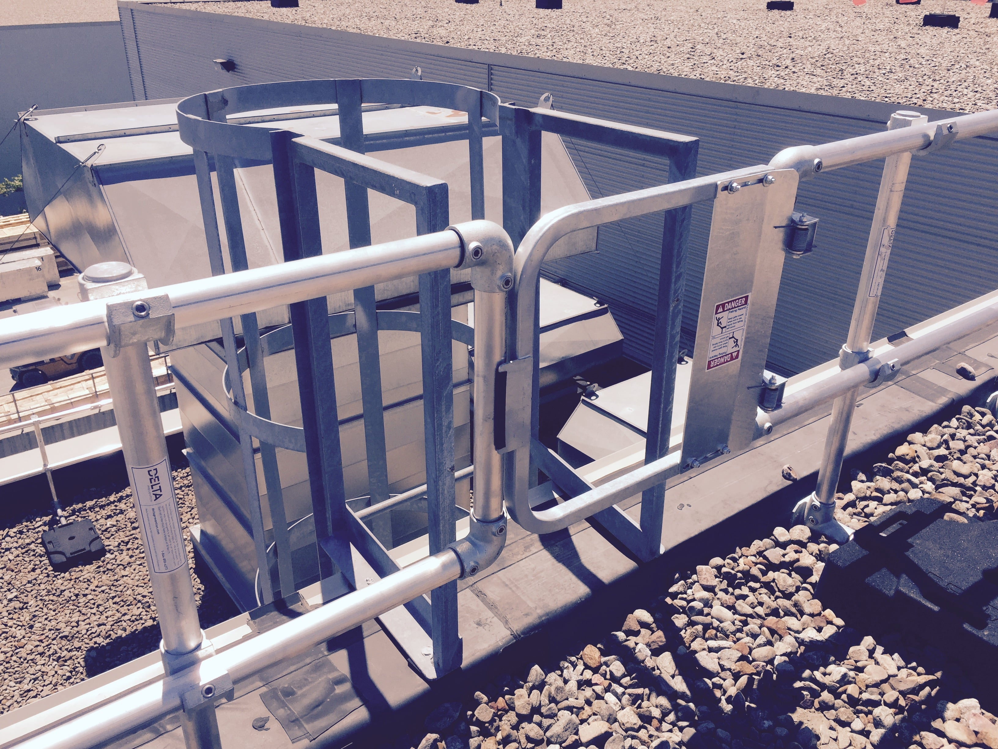Ladder fall protection and metal guardrails in Canada and USA