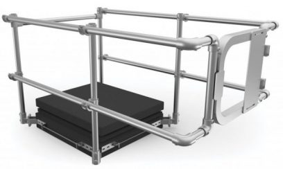 A guardrail kit is protection a roof access hatch and its visitor from falling hazards