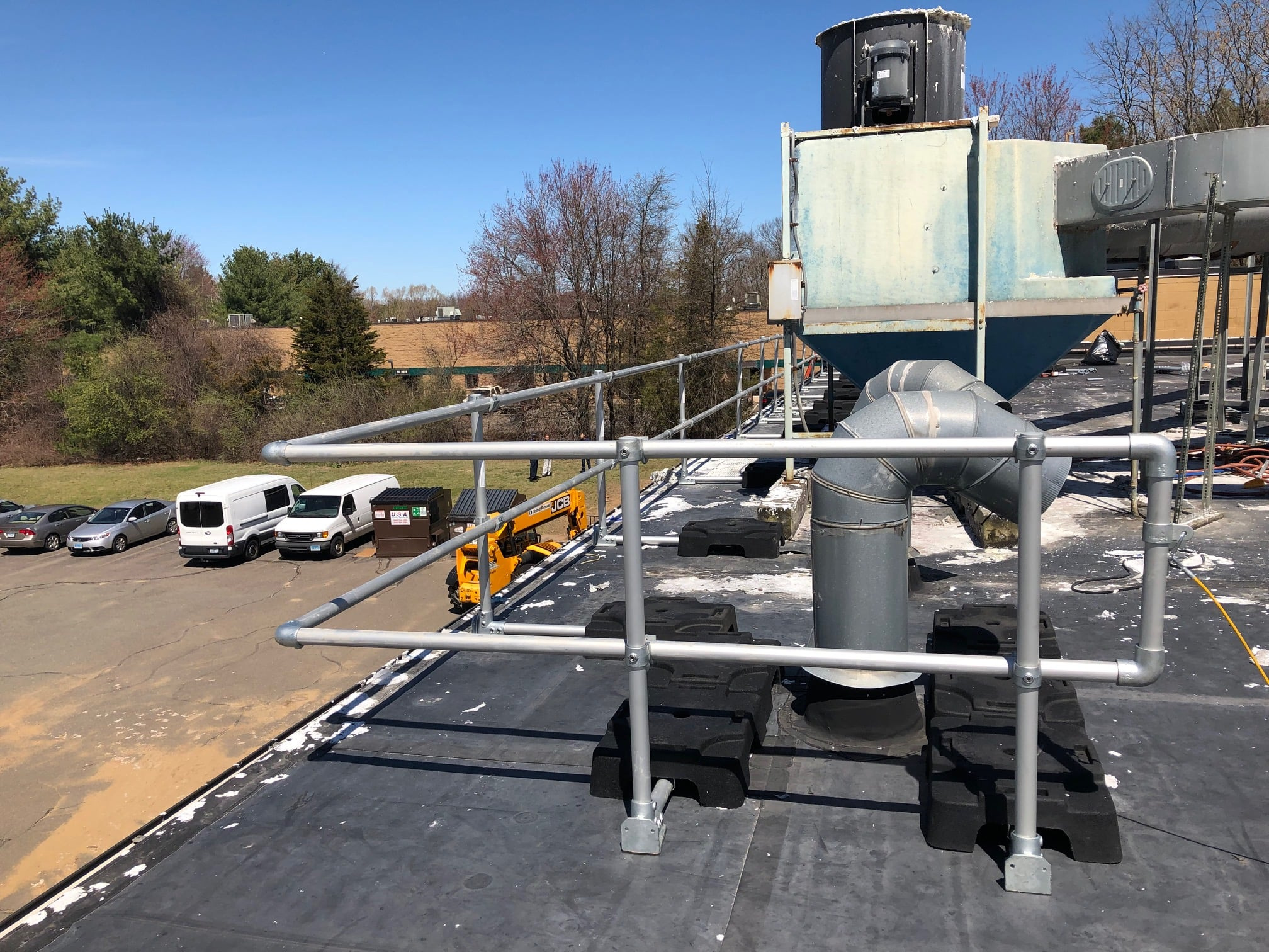 Delta Prevention roof safety railing installed in Connecticut