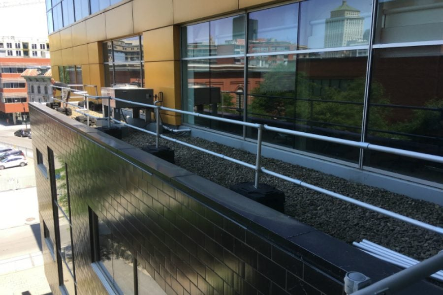 The unrivaled flexibility of fall protection railings!