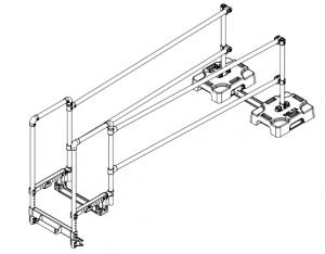 Le stabilisateur d'échelle coulissante s'installe sur les toits avec ou sans parapet
